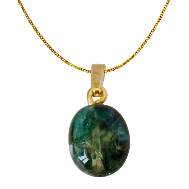 6.28 cts Real Natural Green Emerald Pendant with Gold Plated 22 IN Chain (6.28cts EMR Pend)