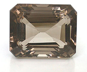 96.11 ct Square Shaped, clear Smoky Loose Topaz -Faceted Lemon & Smokey Topaz