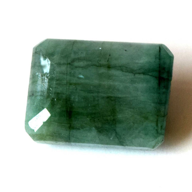 9.62cts Real Natural Rectangle Faceted Light Green Emerald Gemstone for Astrological Purpose (9.62cts Emerald)