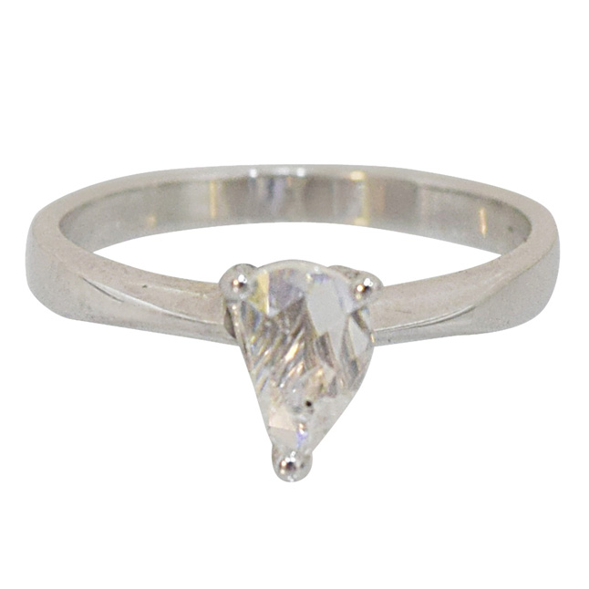 0.42cts Pentagon Diamond Ring in 925 Sterling Silver for Engagement/Wedding (ACCG273)