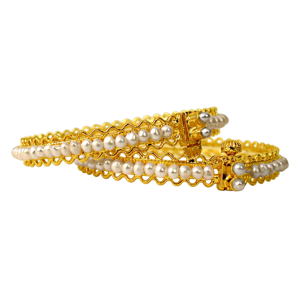 Pearly Adornment -Pearl Bangles