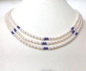 Blue Lapiz Love -2 To 3 Line Necklace