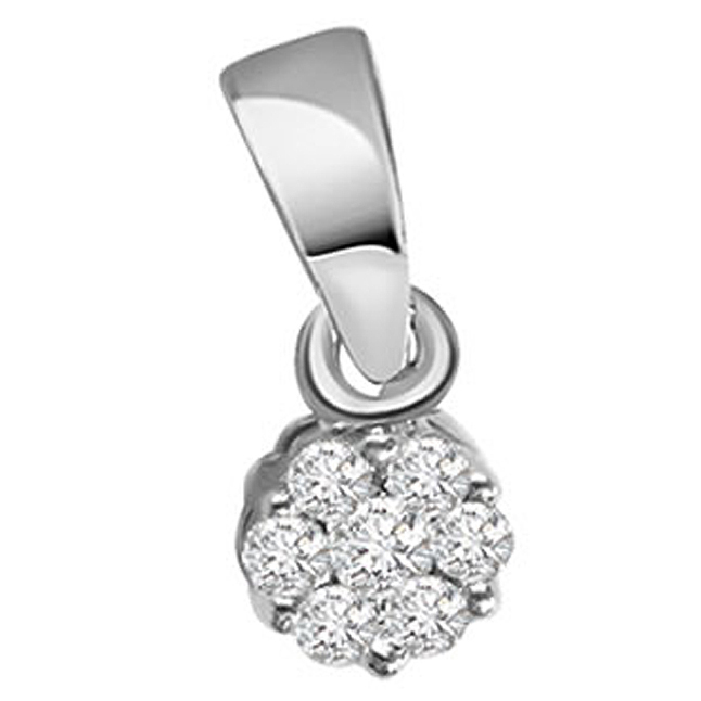 Brilliant Diamond -White Rhodium Pendants