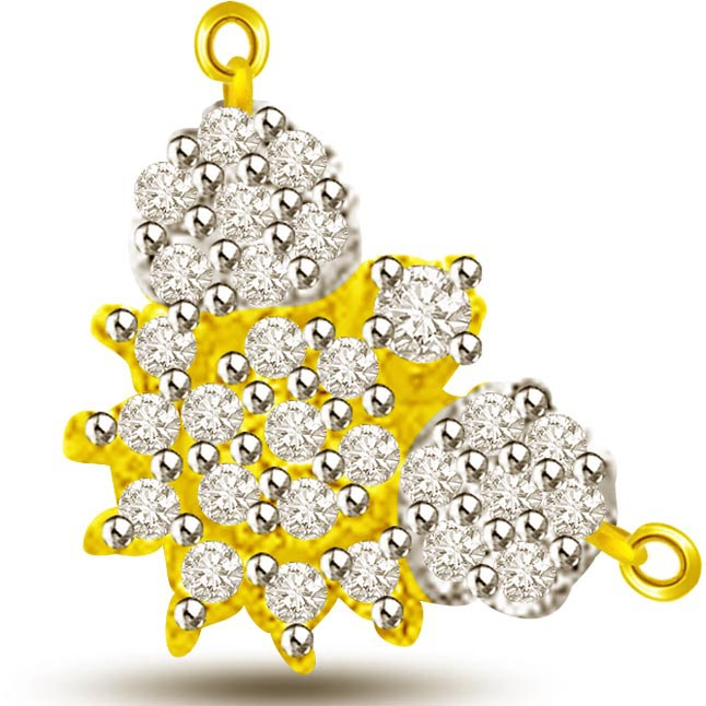 Fragrance Of Flower Diamond & Gold Pendant For Her