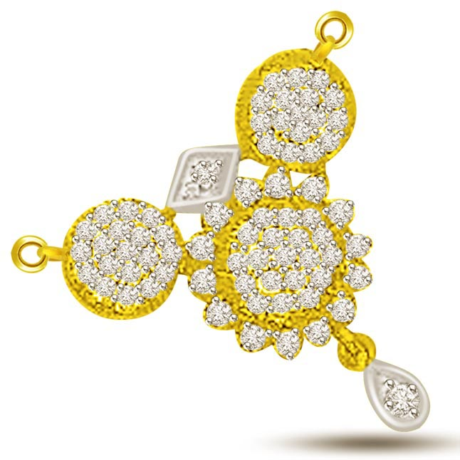 0.73ct Very Traditional Design Diamond Mangalsutra