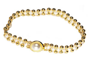 Dazzler -Pearl Bracelet