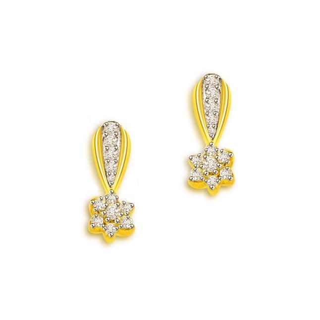 Diamond Earrings Pcs 24 Wt 0 30 Cts Color