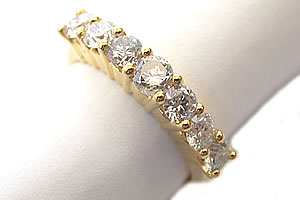 Embracing Splendor -Yellow Gold Eternity rings