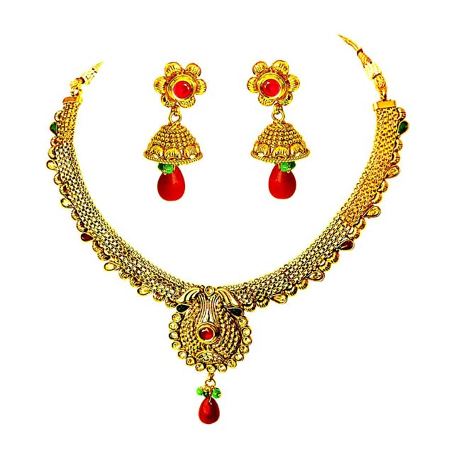 Traditional Necklace & Earring Fashion Jewellery Set for Women PS348