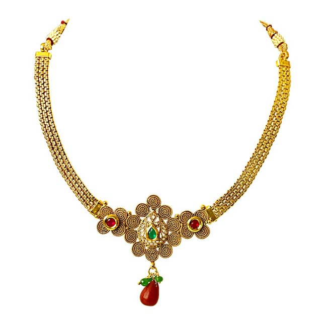 Traditional Necklace & Earring Fashion Jewellery Set for Women PS352