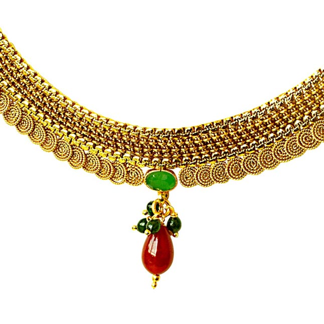Traditional Necklace & Earring Fashion Jewellery Set for Women PS356