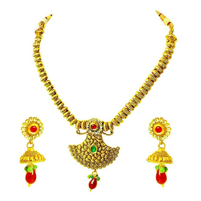Traditional Necklace & Earring Fashion Jewellery Set for Women PS357