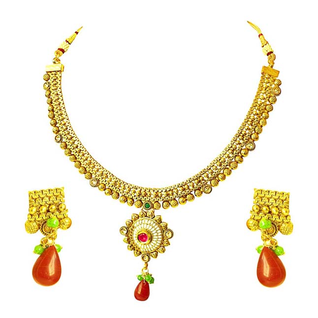 Traditional Necklace & Earring Fashion Jewellery Set for Women PS362