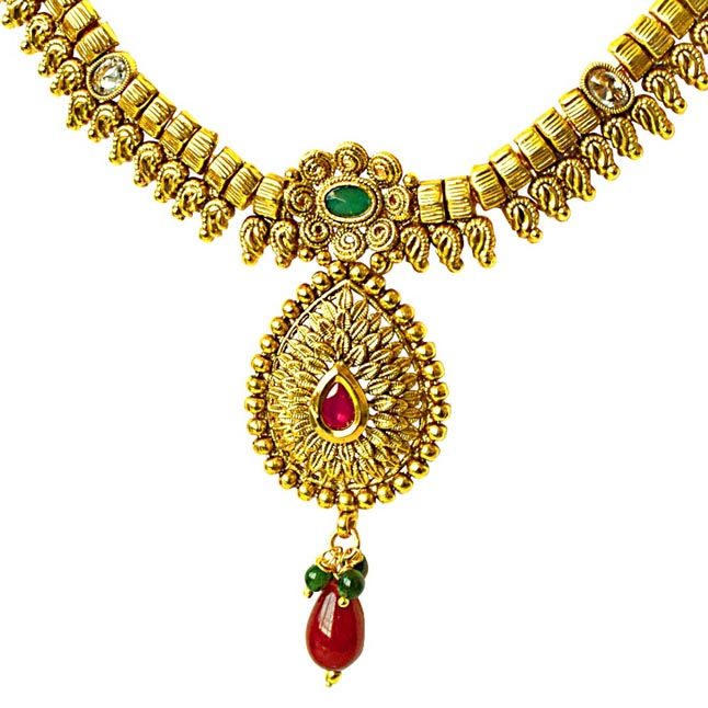 Traditional Necklace & Earring Fashion Jewellery Set for Women PS363