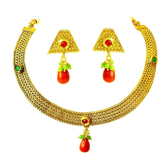 Traditional Necklace & Earring Fashion Jewellery Set for Women PS364