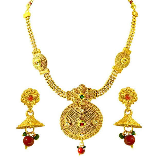 Traditional Necklace & Earring Fashion Jewellery Set for Women PS368