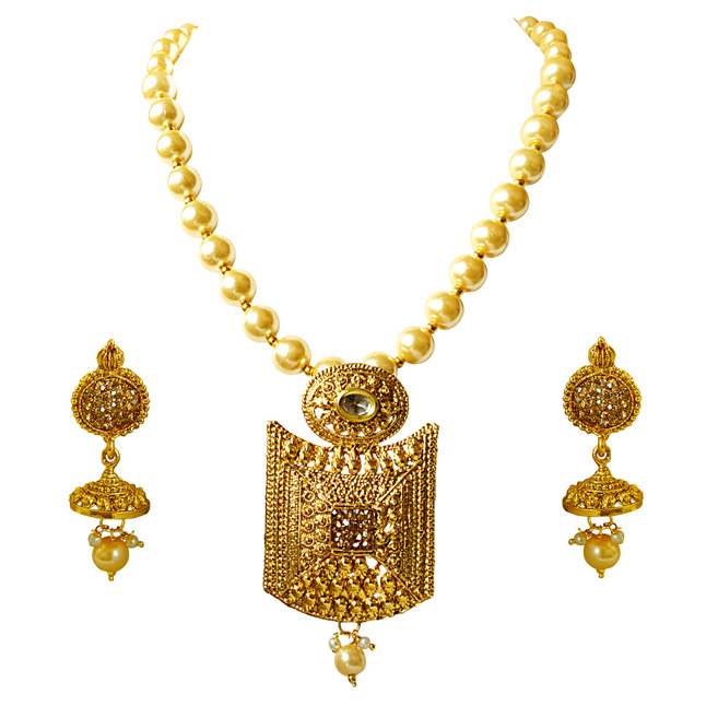 Traditional Necklace & Earring Fashion Jewellery Set for Women PS382