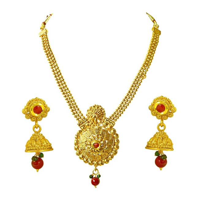 Traditional Necklace & Earring Fashion Jewellery Set for Women PS383