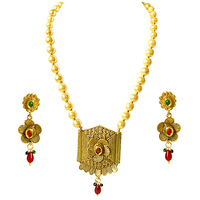 Traditional Necklace & Earring Fashion Jewellery Set for Women PS385
