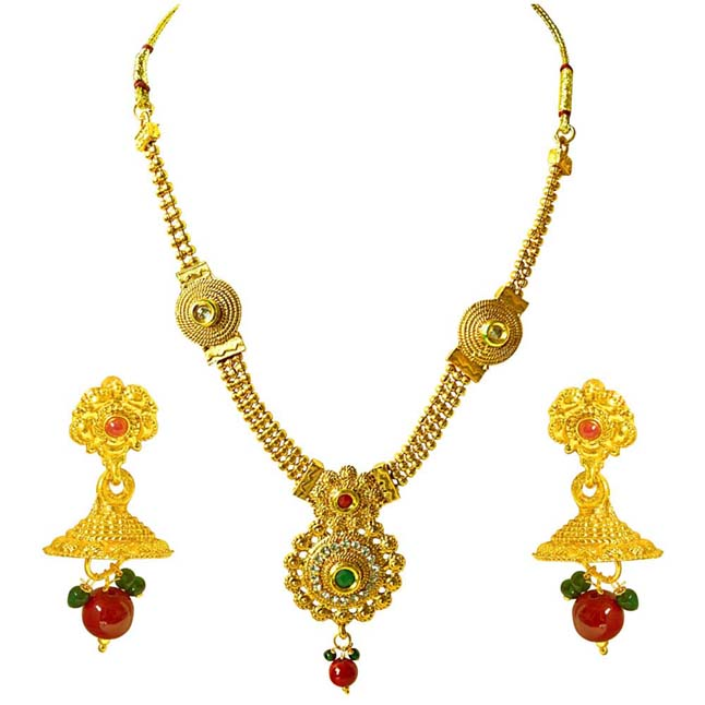 Traditional Necklace & Earring Fashion Jewellery Set for Women PS394
