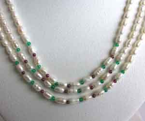 Pleasing purity -2 To 3 Line Necklace