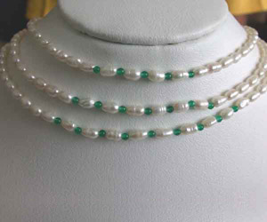 Real Pearl Dreams -2 To 3 Line Necklace