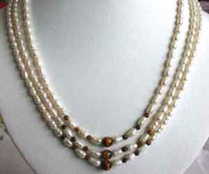 Real Pearl Magic -2 To 3 Line Necklace