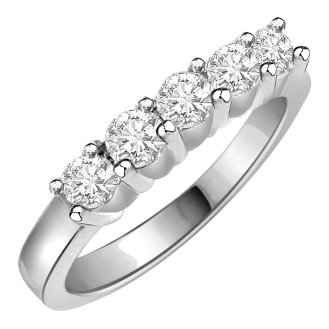 Romantic Liason -White Rhodium rings