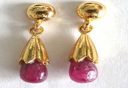 Ruby Lure Earrings - Hangings