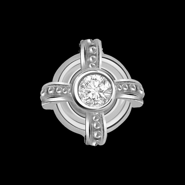 Freeze Frame - Real Diamond & Sterling Silver Pendant with 18 IN Chain
