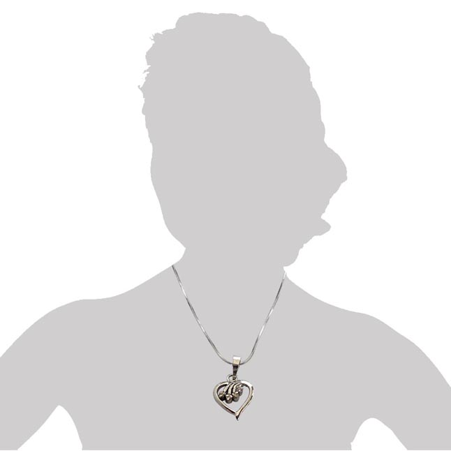 Magical Memories - Real Diamond & Sterling Silver Pendant with 18 IN Chain