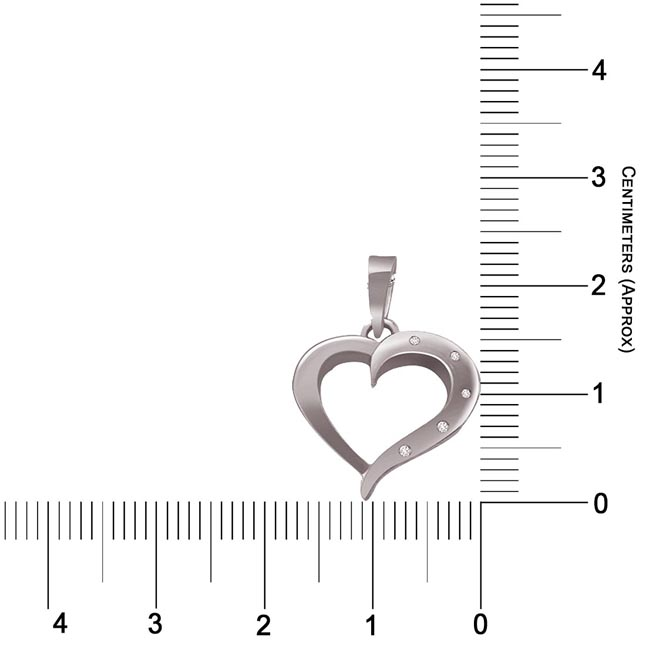 Love Affair - Real Diamond & Sterling Silver Pendant with 18 IN Chain