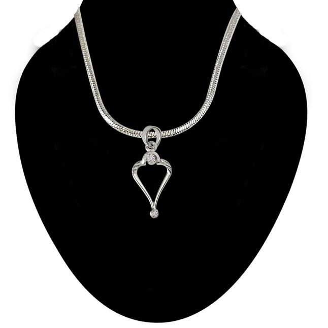 Rise with Grace - Real Diamond & Sterling Silver Pendant with 18 IN Chain (SDP218)