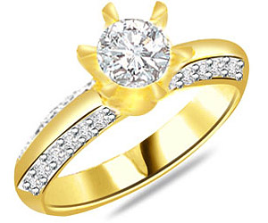 diamond 18k engagement ring