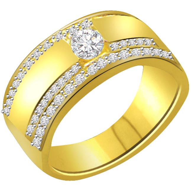 diamond 18kt yellow gold ring
