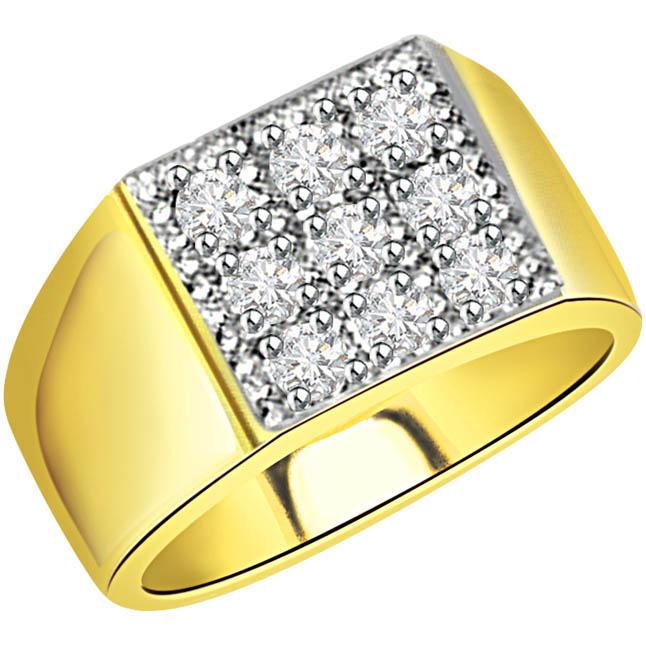 Mens Diamond Ring In 18k Gold