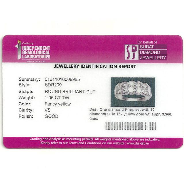 Celebration - IGL Certified Diamond Ring