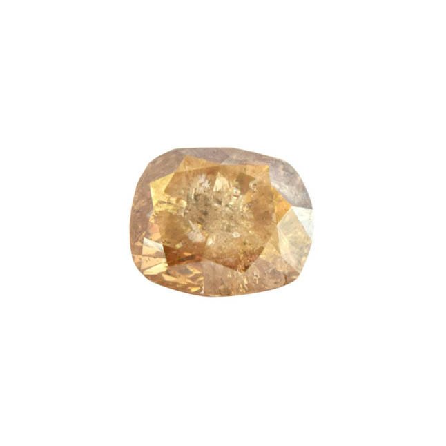 SDJ Certified 3.57 cts Light Brown/I3 Oval Shaped Real Natural Diamond for Engagement Ring
