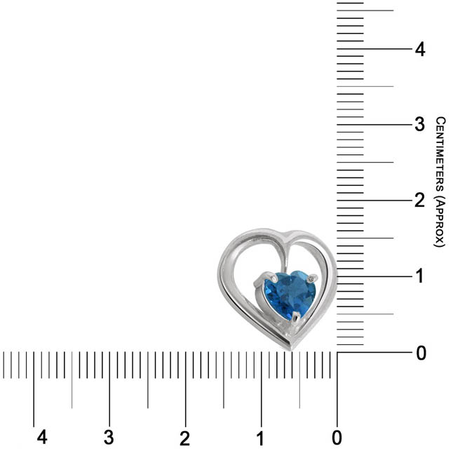 Heart Shape Blue Topaz Pendant & Earring Set with Silver finished Chain for Girls (SDS116)