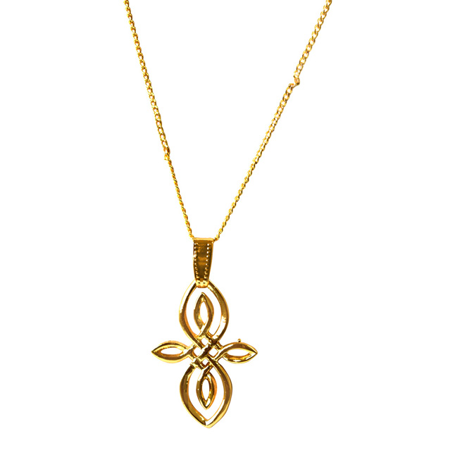 Fancy Shape Gold Plated Pendant with chain for Party wear for Women (SDS317)