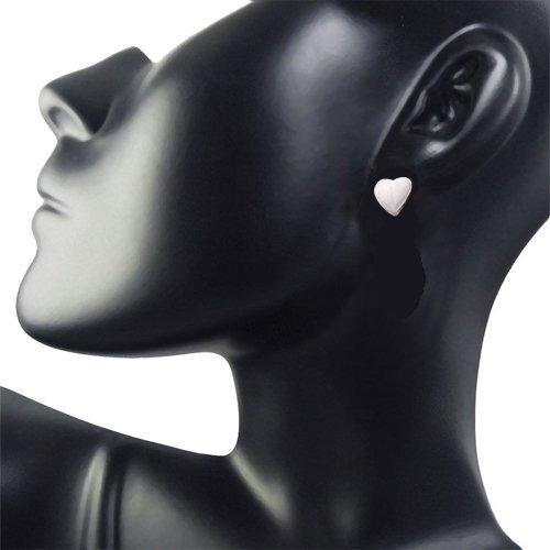 Heart Shaped Sterling Silver Earrings for Girls (SDS5)