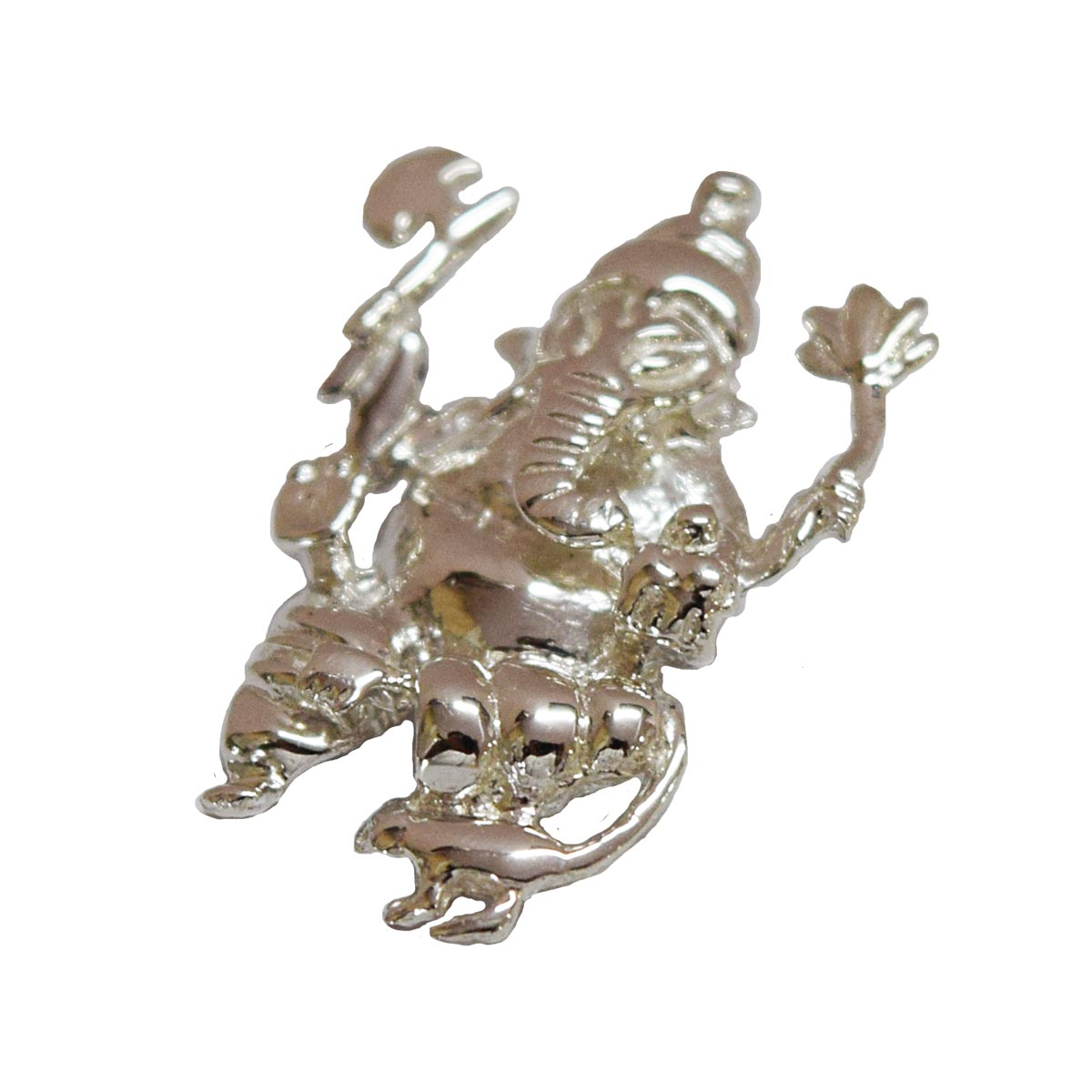 Small Ganesh Pendant in Sterling Silver for Children (SDS7)