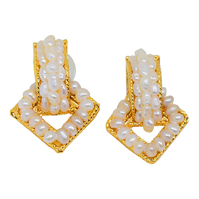 Enchanting Pure Pearl Earrings -Designer Earrings