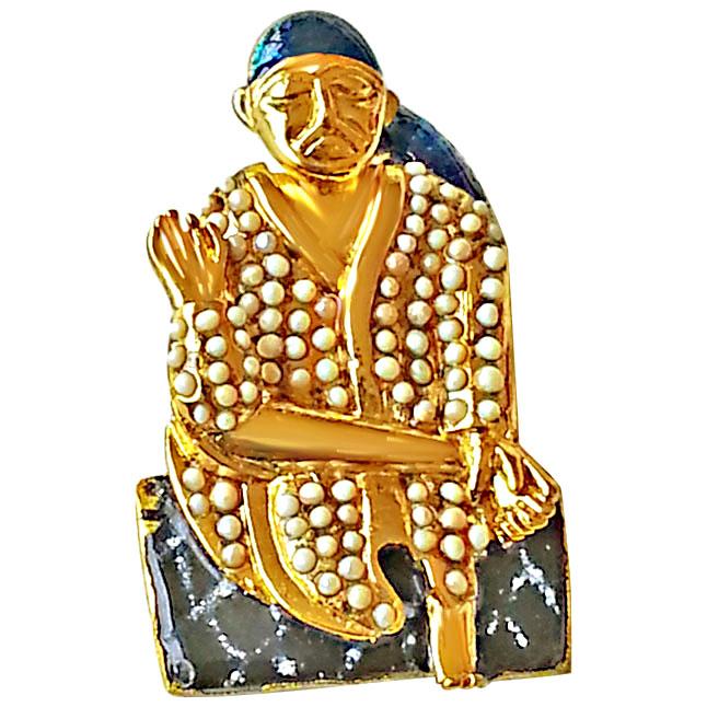Saibaba Pendant Set In Gold Pl