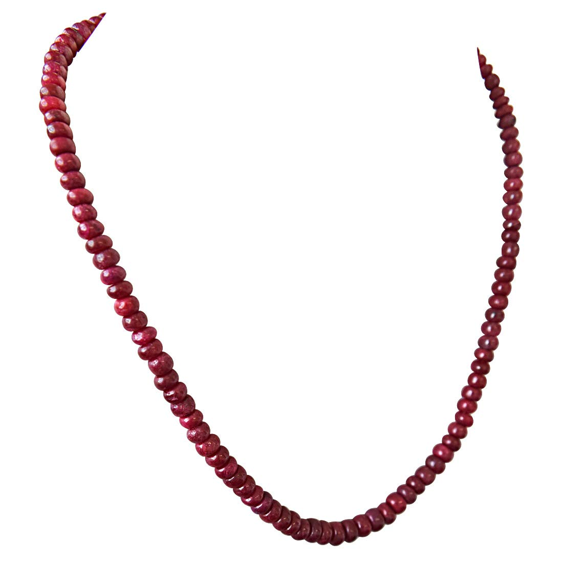 Stunning Surprise - Single Line Real Ruby Beads Necklace for Women (SN115)