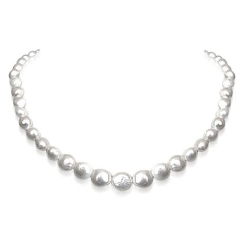 Luminescence - Single Line Real Freshwater Pearl Necklace for Women (SN203)