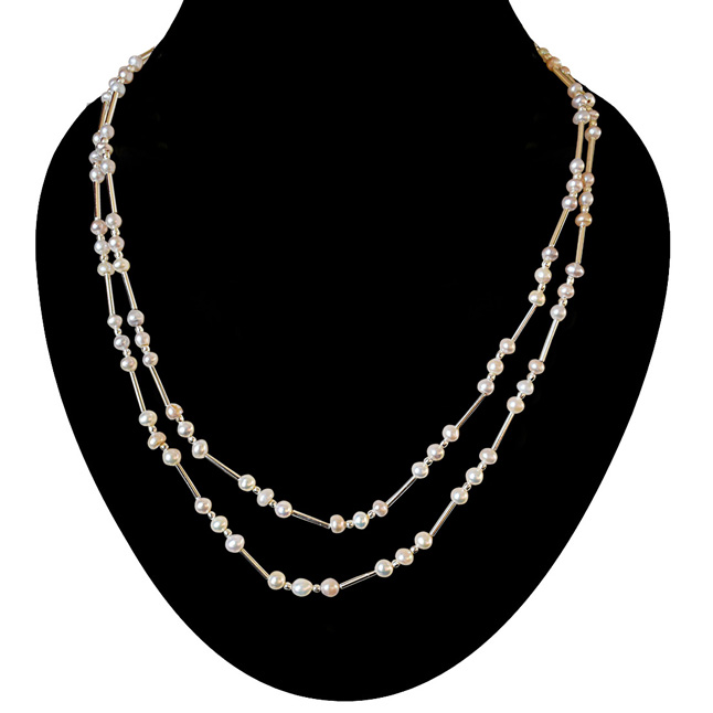 Caramel n Cream -2 To 3 Line Necklace