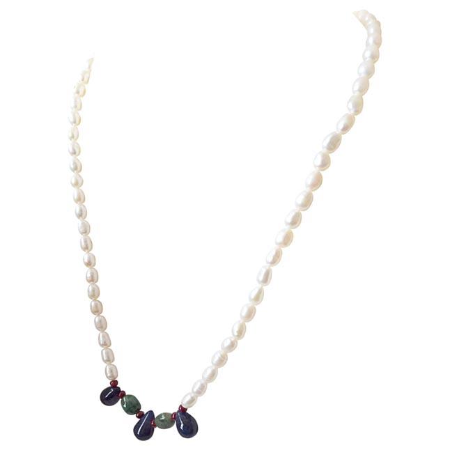 His Pretty Princess -Precious Stone Necklace