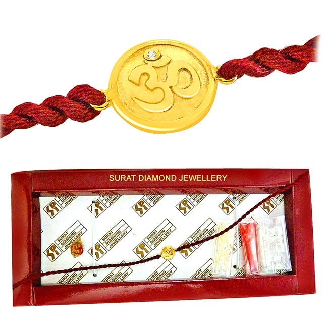 OM -Diamond Gold Rakhi