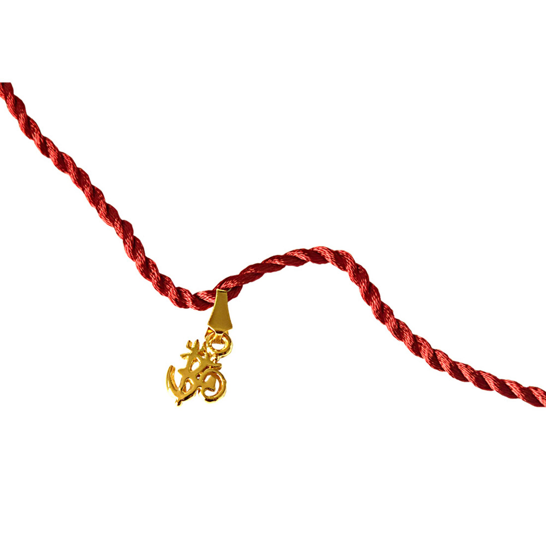 OM Trishul Gold Plated Religious Rakhi for Brothers (SNSH6)